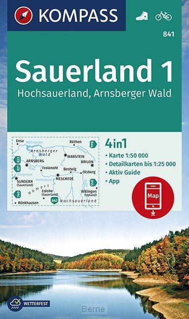 Sauerland 1, Hochsauerland, Arnsberger Wald 1:50 000
