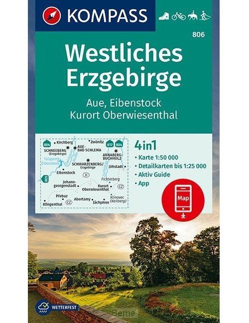 Westliches Erzgebirge, Aue, Eibenstock, Kurort Oberwiesenthal 1:50 000