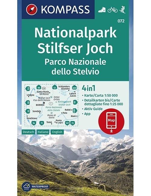 Nationalpark Stilfserjoch, Parco Nazionale dello Stelvio 1:50 000