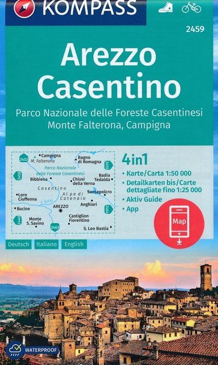 KOMPASS Wanderkarte 2459 Arezzo, Casentino