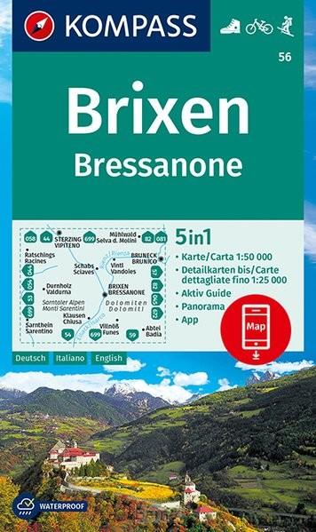 KOMPASS Wanderkarte Brixen, Bressanone
