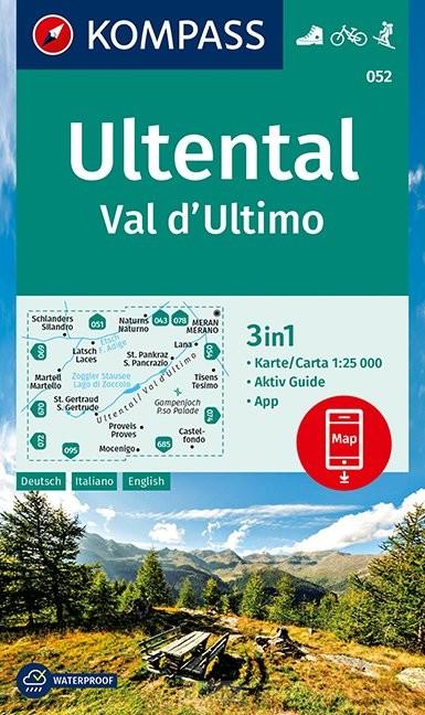 KOMPASS Wanderkarte Ultental, Val d'Ultimo