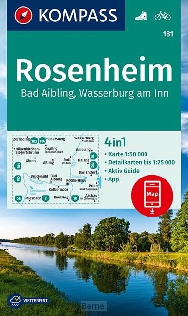 KOMPASS Wanderkarte Rosenheim, Bad Aibling, Wasserburg am Inn 1:50 000