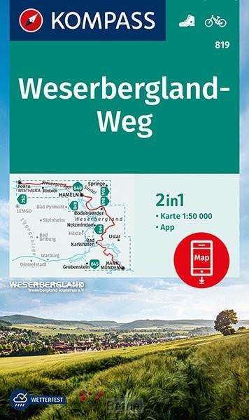 KOMPASS Wanderkarte 819 Weserbergland-Weg