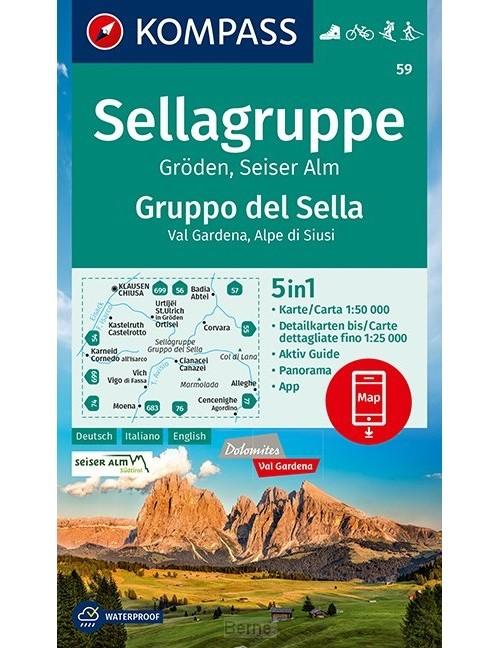 KOMPASS Wanderkarte Sellagruppe, Gruppo del Sella 1:50 000