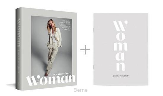 Woman + notebook