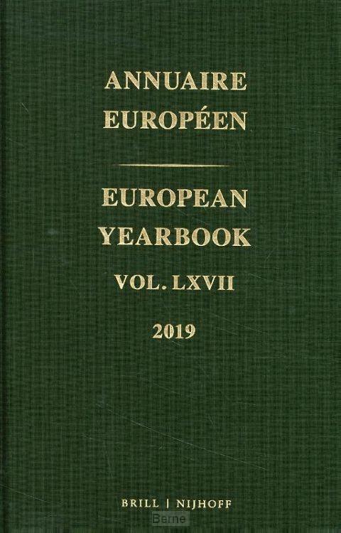 European Yearbook / Annuaire Européen, Volume 67 (2019)