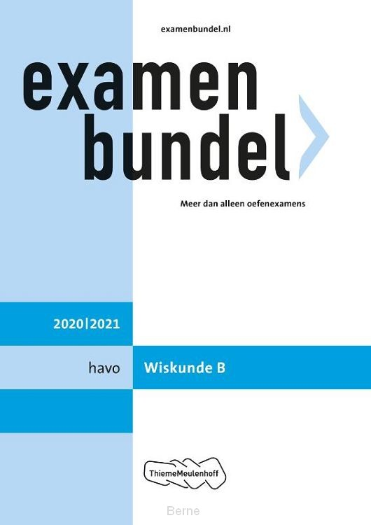 Examenbundel / havo Wiskunde B 2020/2021