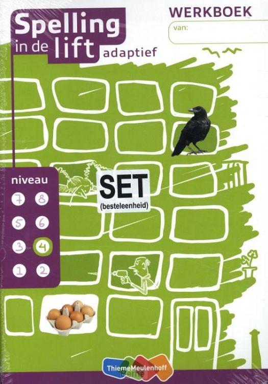 niveau 4 / Spelling in de lift adaptief (set van 5) / Werkboek
