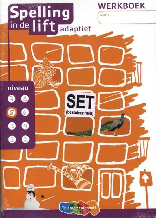 niveau 5 / Spelling in de lift adaptief (set van 5) / Werkboek