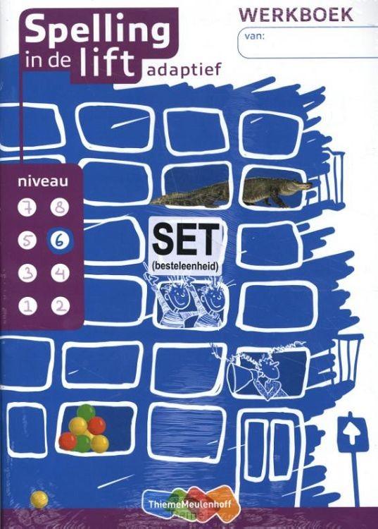 niveau 6 / Spelling in de lift adaptief (set van 5) / Werkboek
