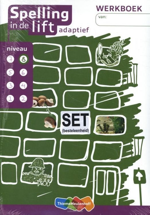 Spelling in de lift adaptief - werkboekjes niveau 8 (set van 5)