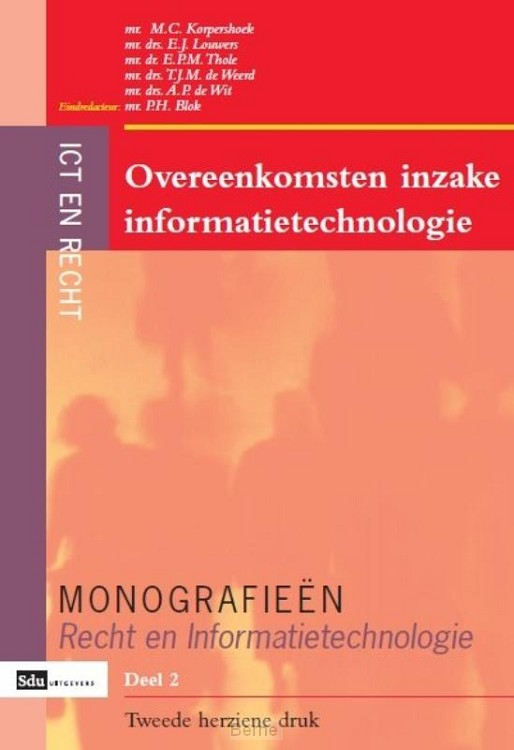 Overeenkomsten inzake informatietechnologie