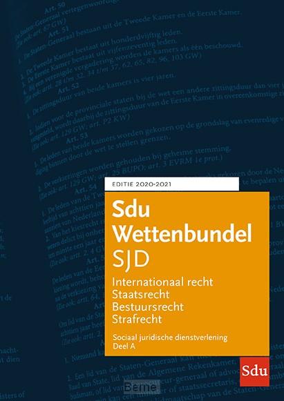 Sdu Wettenbundel Sociaal Juridische Dienstverlening 2020-2021 (set 2 ex)