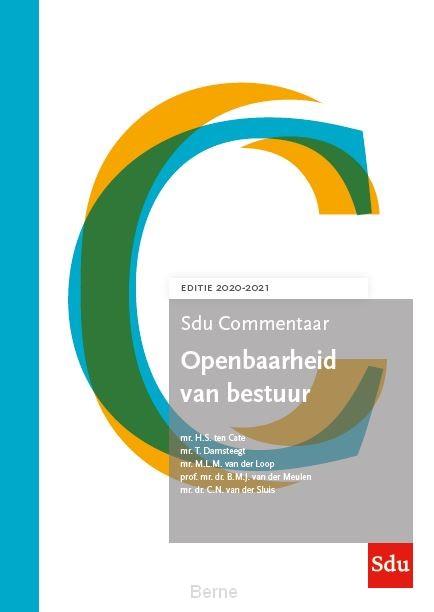 Sdu Commentaar Openbaarheid van Bestuur. Editie 2020-2021
