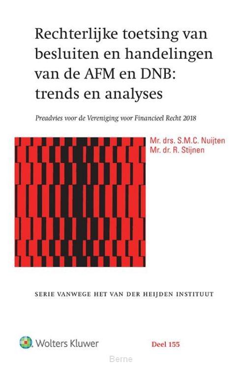 Rechterlijke toetsing van besluiten en handelingen van de AFM en DNB: trends en analyses