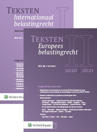 Teksten Internationaal & Europees belastingrecht 2020/2021
