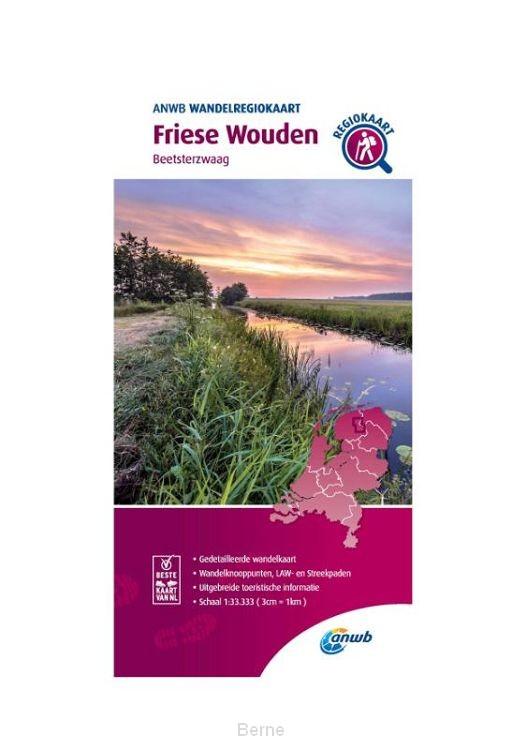 Wandelregiokaart Friese Wouden 1:33.333