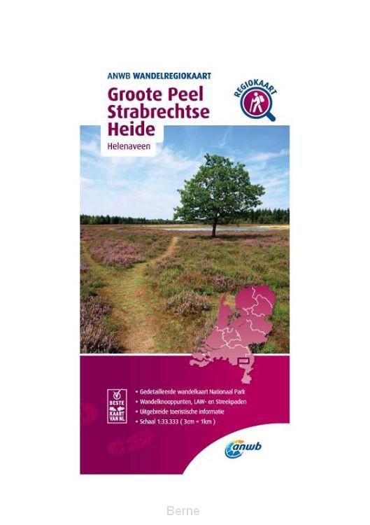Wandelregiokaart Groote Peel, Strabrechtseheide 1:33.333