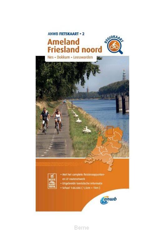 Fietskaart Ameland, Friesland noord 1:66.666