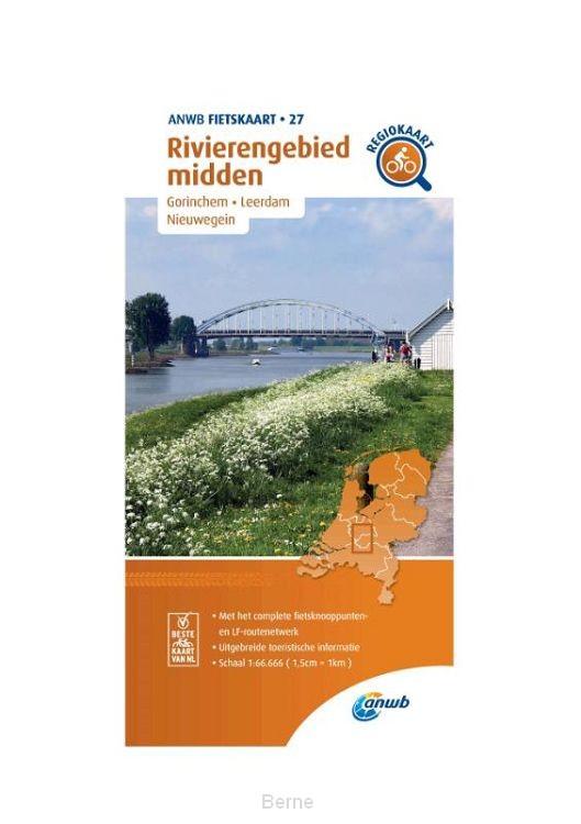 Fietskaart Rivierengebied midden 1:66.666