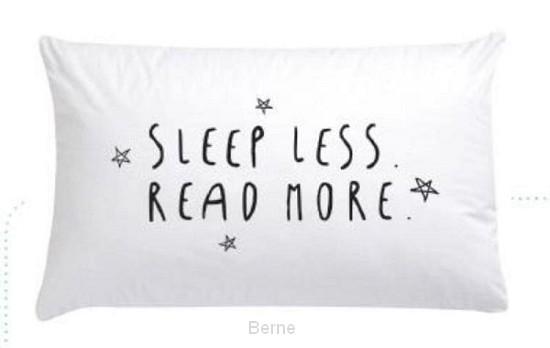 Kussensloop sleep less, read more per 10 stuks