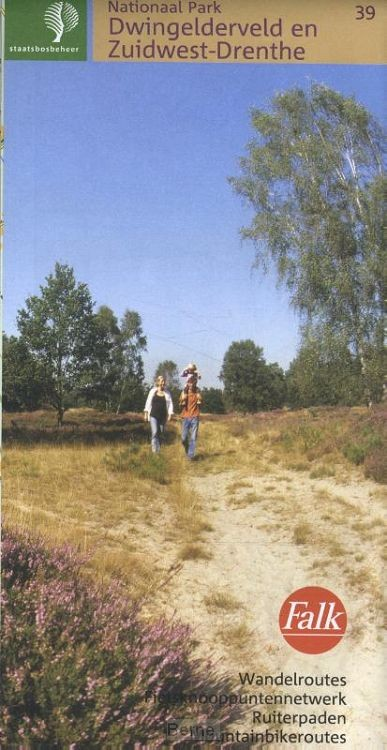 Falk Staatsbosbeheer wandelkaart 39. Dwingelderveld