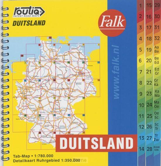 Routiq Duitsland tab map
