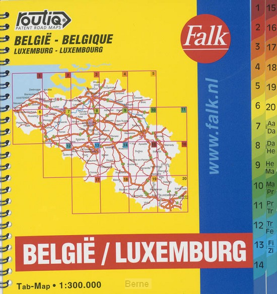 Routiq Belgie / Luxemburg tab map