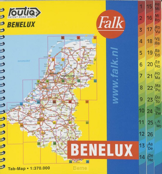 Routiq Benelux tab map