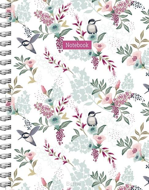 Romantic Garden spiraalboek groot (lijnen)