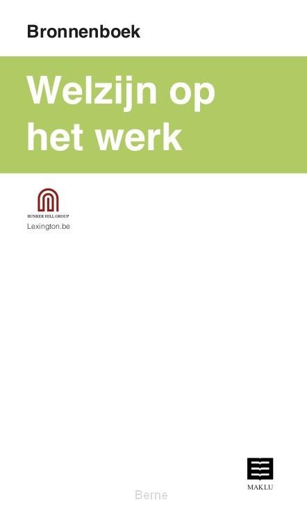 Welzijn op het werk (Bronnenboek)