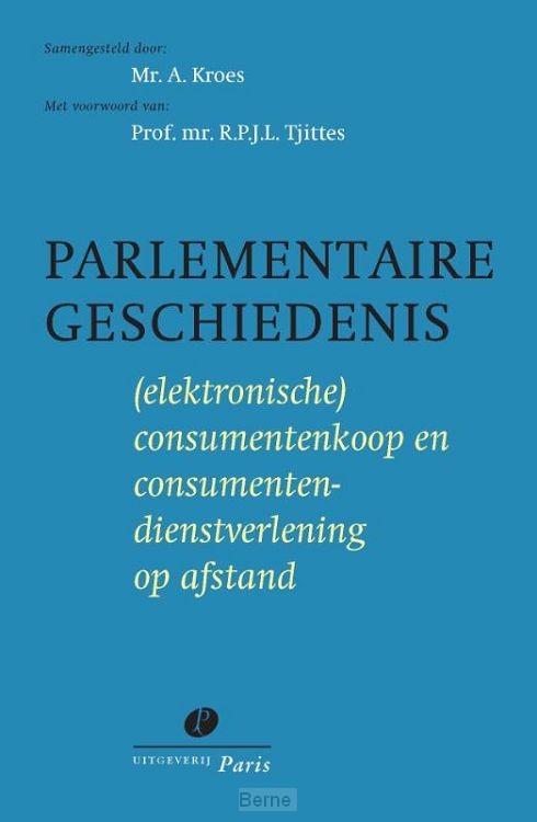 Parlementaire geschiedenis (elektronische) consumentenkoop en consumentendienstverlening op afstand