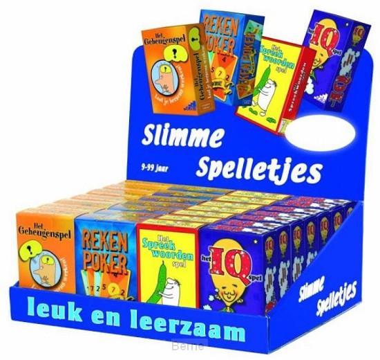 Display Slimme Spelletjes 4 x 7 kaartspellen
