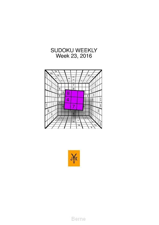 Sudoku Weekly / week 22, 2016