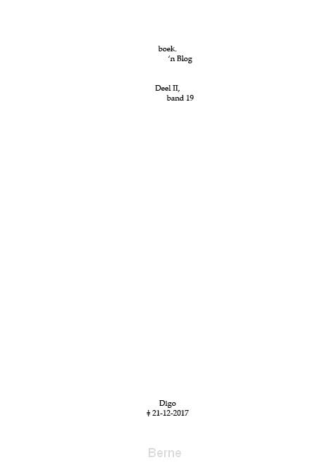 boek.-'n Blog, deel II, band 19
