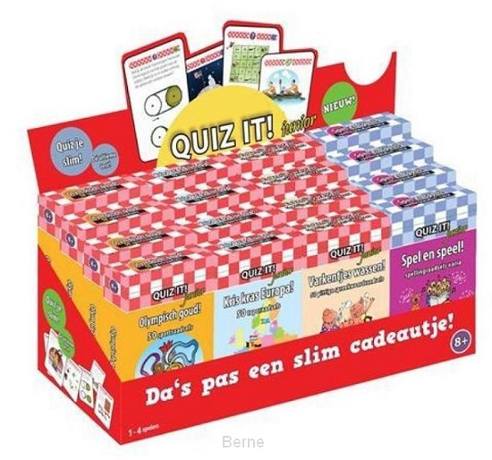 Quiz it Junior displaydoos 4x4 titels