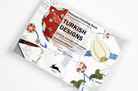 Turkish Designs - Postcard Colouring Book