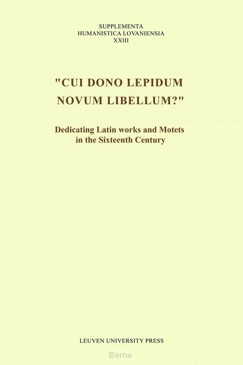 Cui dono lepidum novum libellum?
