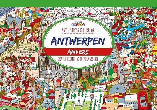 Antwerpen, creatief kleuren voor volwassenen