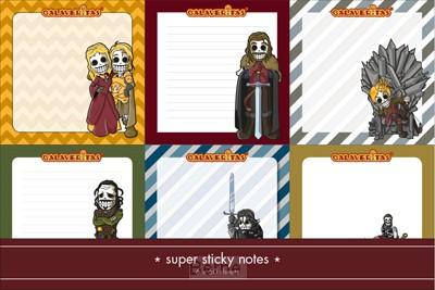 Medieval sticky notes