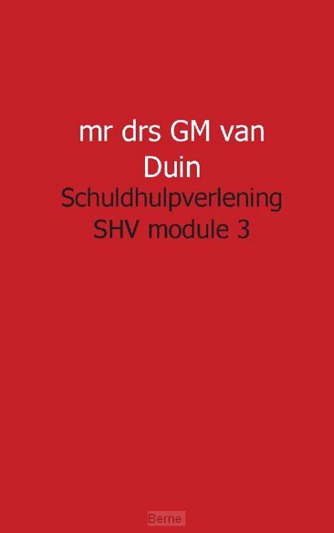 Schuldhulpverlening SHV module 3
