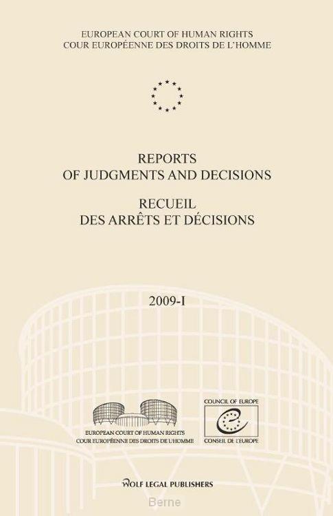 Reports of judgments and decisions / recueil des arrets et decicions / 2009-1