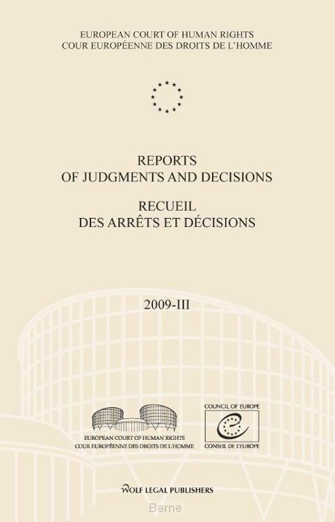 Reports of judgments and decisions / recueil des arrets et decisions / 2009-III