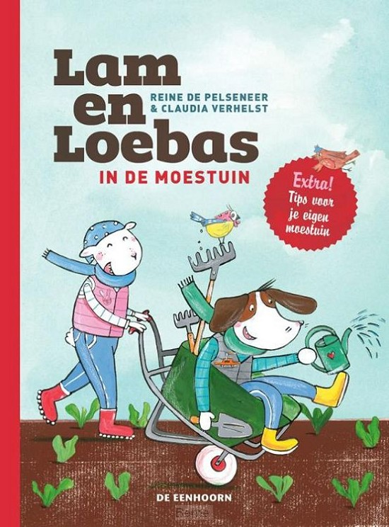 Lam en Loebas in de moestuin