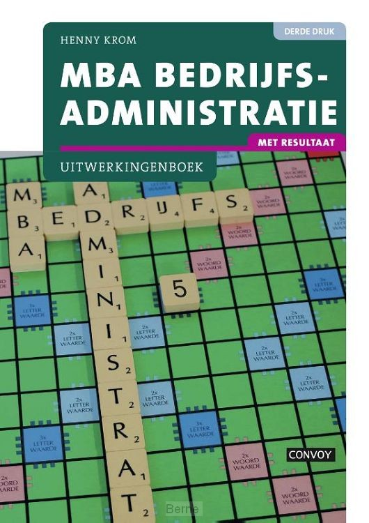 MBA bedrijfsadministratie / Uitwerkingenboek