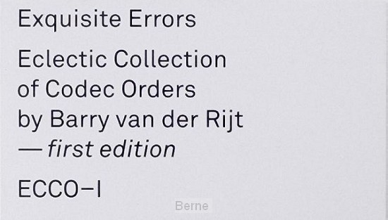 Exquisite Errors: ECCO-I