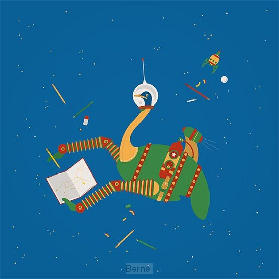 Poesiealbum ruimtestruisvogel