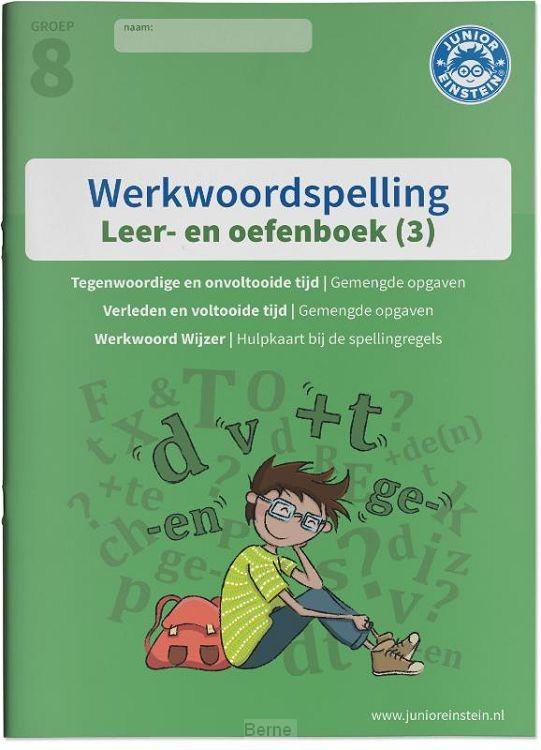 Deel 3 Spellingsoefeningen gemengd groep 8 / Werkwoordspelling / leer- en oefenboek