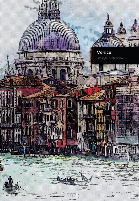 Venice II Lifestyle Notebook, Write-in Dotted Line, 6 x 9 Inch (US Trade), 180 Pages (90shts)